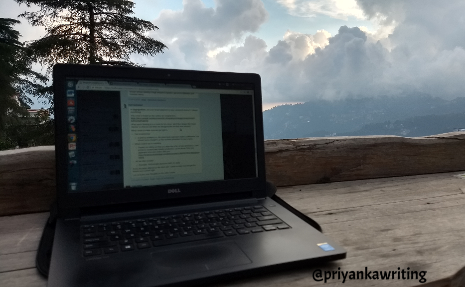 In a globally distributed team : Working remotely from Shimla
